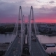 The Bolshoi Obukhovsky Bridge in Saint Petersburg, Russia - VideoHive Item for Sale