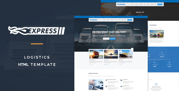Express Logistics - Transport &Logistics HTML Template - Business Corporate