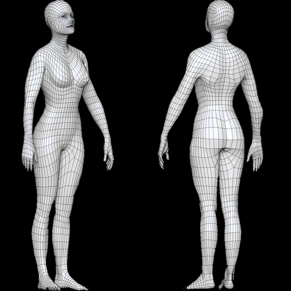 Base mesh Female - 3DOcean Item for Sale