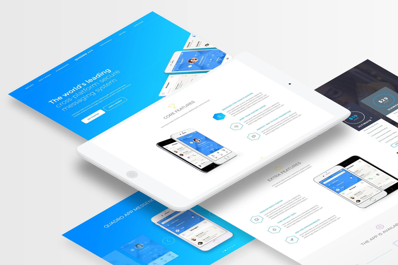 Quadro App - Mobile App PSD Template by spartakvee2511 | ThemeForest