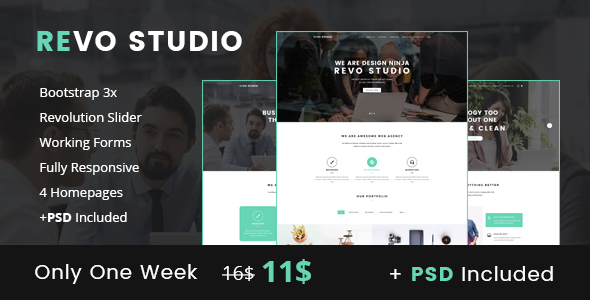 Revo Studio - Business and Agency Landing Page