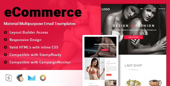 Multipurpose eCommerce Email Template + Stampready builder