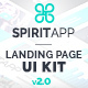 SpiritApp Landing Page UI Kit & Premade Templates (Light Style) - GraphicRiver Item for Sale