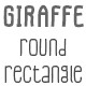 Giraffe Round Rectangle Font - GraphicRiver Item for Sale