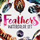 Watercolor Boho Feathers DIY Set - GraphicRiver Item for Sale
