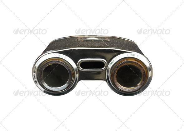 Old binoculars - Stock Photo - Images