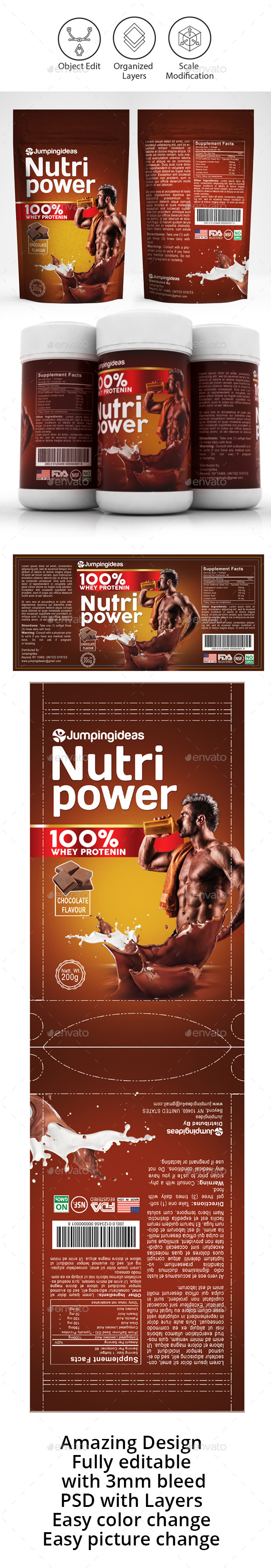 Protein Shake Label Template