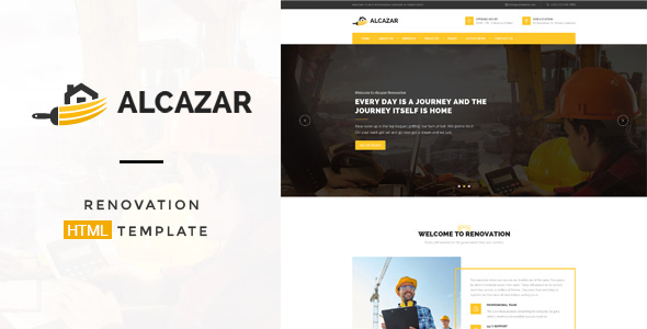 Alcazar - Construction, Renovation & Building HTML Template - Business Corporate