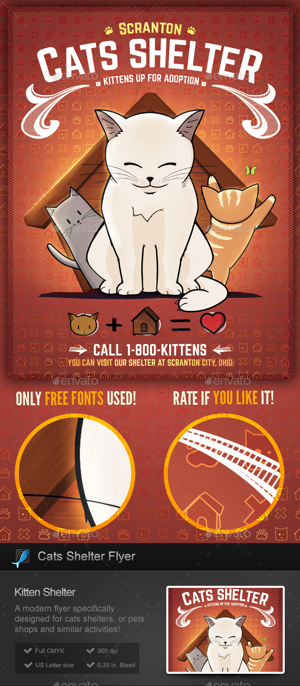 cat shelter kitten rescues flyer template miscellaneous events