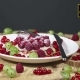 Pie With Berries Dusted With Powdered Sugar On a White Plate Decorated With Fresh Berries - VideoHive Item for Sale
