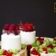 Cottage Cheese Dessert With Strawberry In a Glass  . Healthy Breakfast - VideoHive Item for Sale