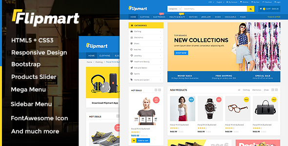 Flipmart – Responsive Ecommerce Template