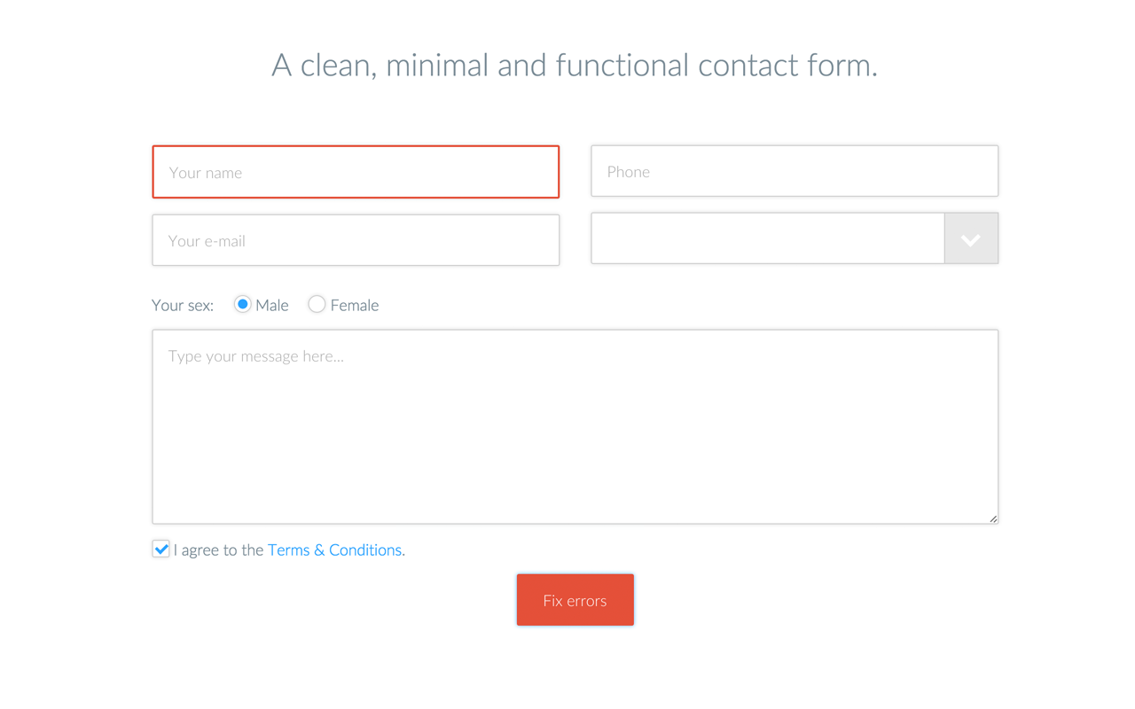 Vanilla Form - Modern & Responsive Contact Form by LogicartDevelopment