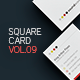 Square Business Card Template V.9 - GraphicRiver Item for Sale