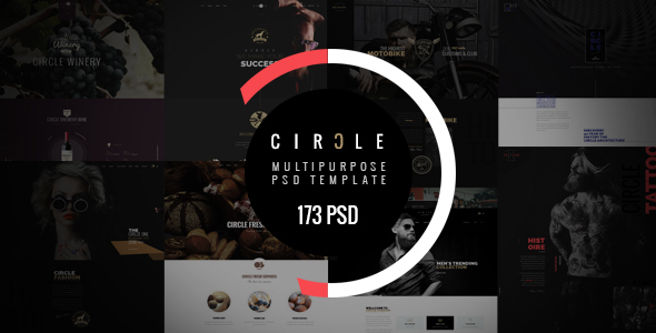 CIRCLE - Creative Multipurpose PSD Template - Creative PSD Templates