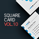 Square Business Card Template V.10 - GraphicRiver Item for Sale