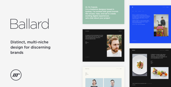 Ballard – Personal CV, Agency, Law & Restaurant HTML template