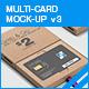 Multi-Card Mock-up v3 - GraphicRiver Item for Sale