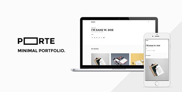 Porte Minimal Portfolio - Portfolio Creative