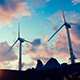 Wind Turbines on the Hill - VideoHive Item for Sale
