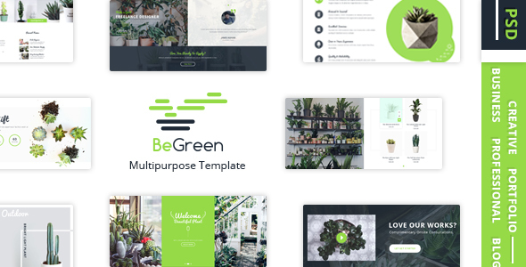 BeGreen – Multipurpose Planter PSD Template