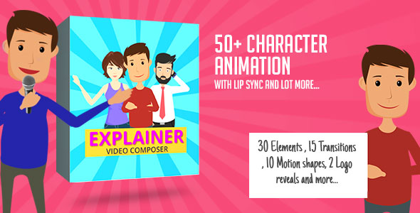 Videohive Character Animation Composer - Explainer Video Toolkit 17045232