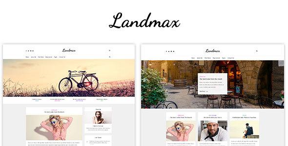 Landmax PSD – Minimal Blog Theme