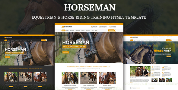 Horseman - Equestrian & Horse Riding Training HTML5 Template
