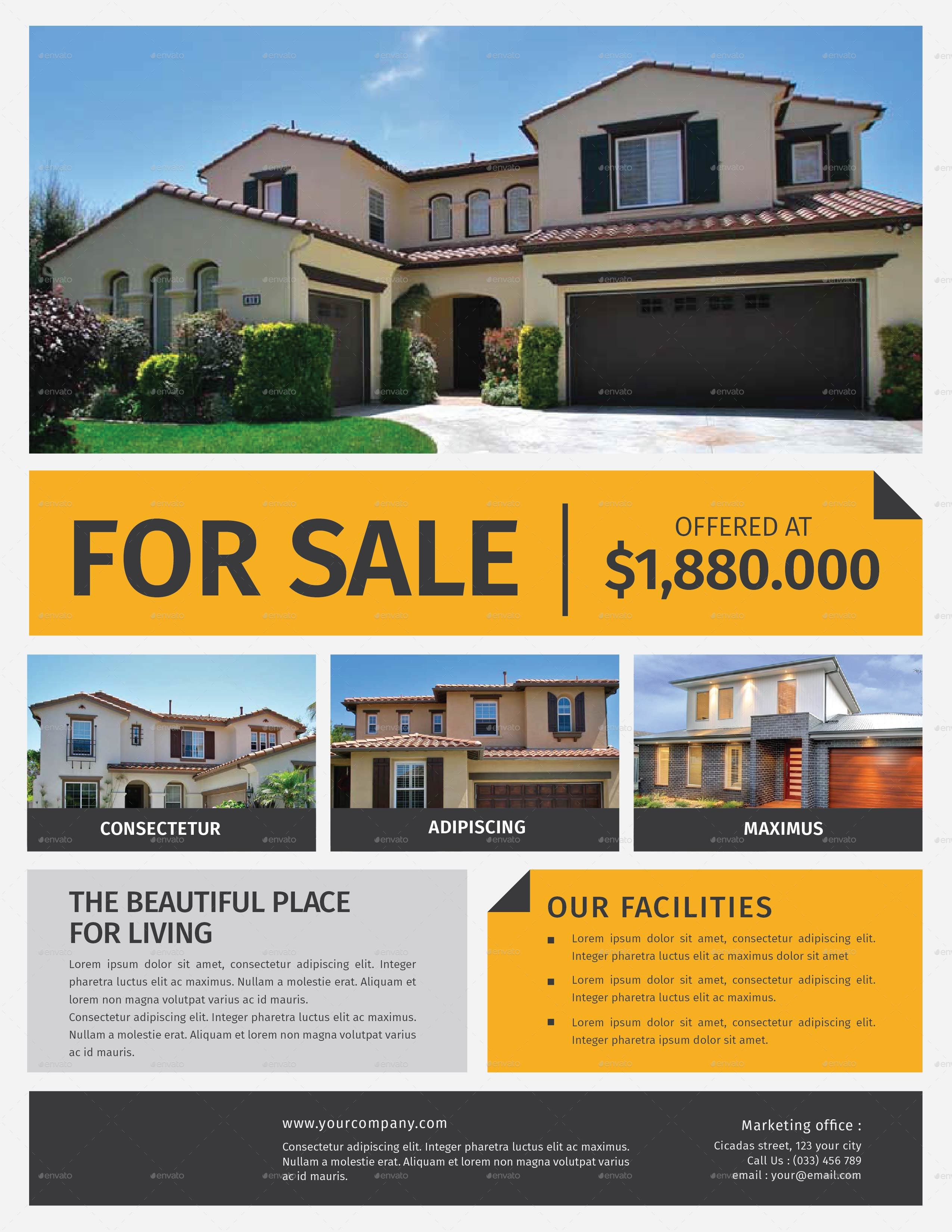 Real estate flyer by lilynthesweetpea graphicriver for Home selling design