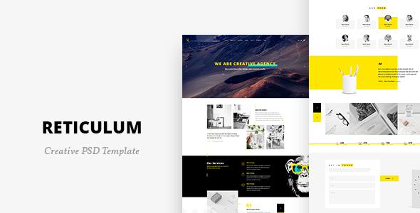 Reticulum - Creative Psd Template