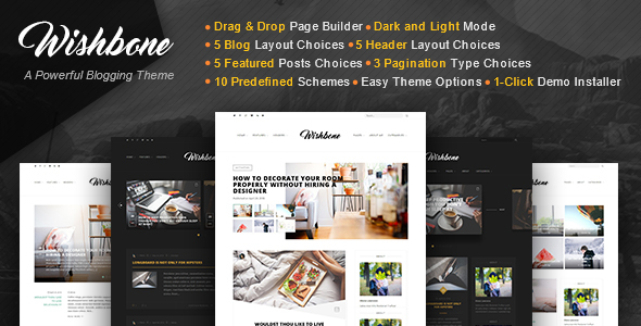 Wishbone – A Clean & Powerful WordPress blogging theme