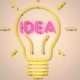 Idea Light Bulb Neon - VideoHive Item for Sale