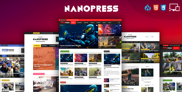 Image of Nanopress - Drupal Responsive Blog & Magazine Theme