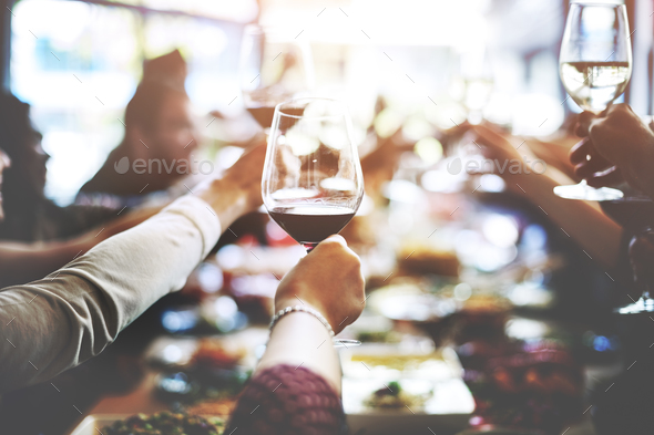 Business Meeting Eating Cheers Happiness Concept - Stock Photo - Images