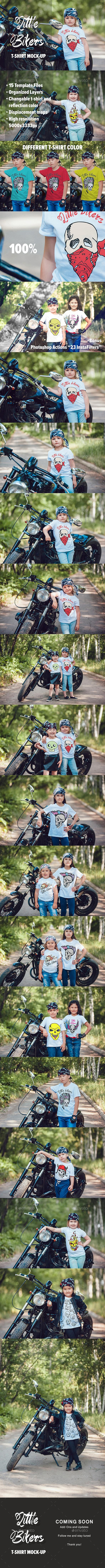 Little Bikers T-Shirt Mock-Up