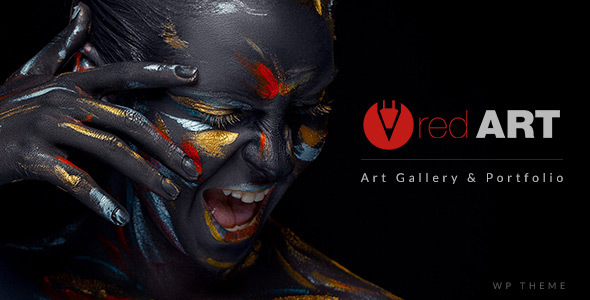 Red Art – WP Portfolio / Art Gallery Website Template