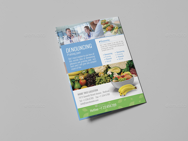 Dietitian/ A5 Brochure Template by wutip2 | GraphicRiver
