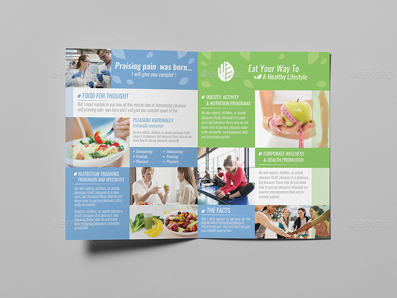 Dietitian A5 Brochure Template By Wutip2 Graphicriver