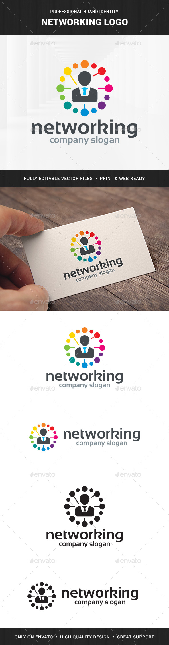 Networking Logo Template - Humans Logo Templates
