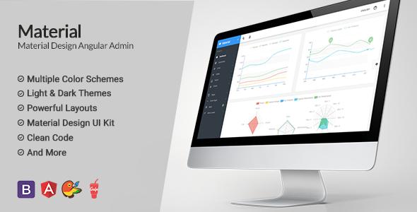 Material Design Angular Admin App