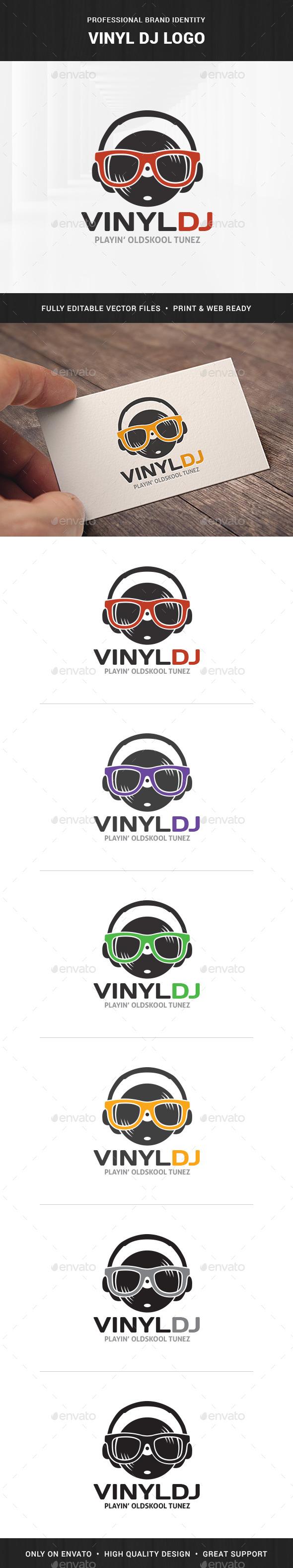 Vinyl DJ Logo - Objects Logo Templates