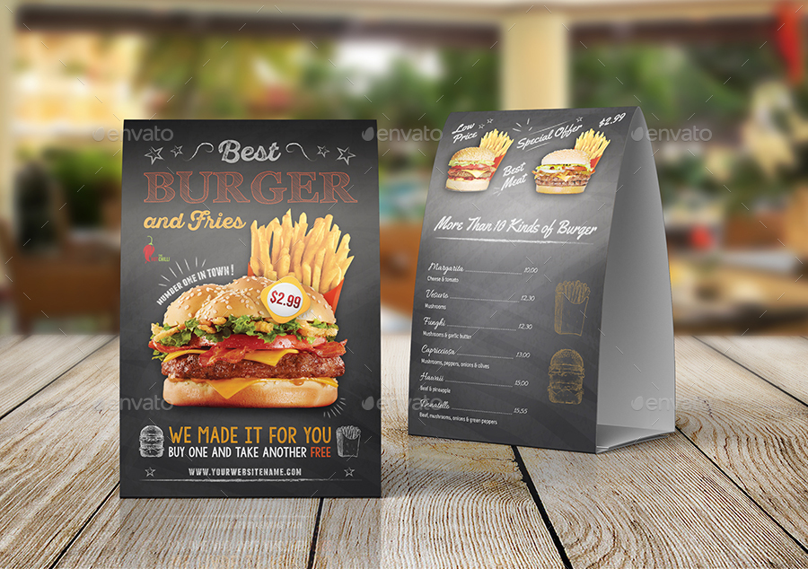 Burger Restaurant Advertising Bundle Vol By OWPictures GraphicRiver - Restaurant table advertising