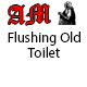 Flushing Old Toilet