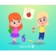 Girls with Apples Back to School - GraphicRiver Item for Sale