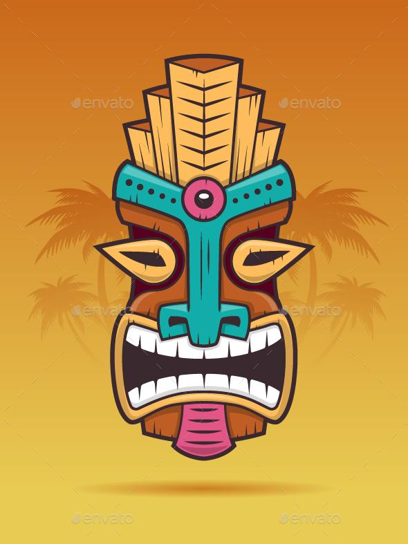 Tiki mask by zoljo graphicriver tiki mask stopboris Gallery