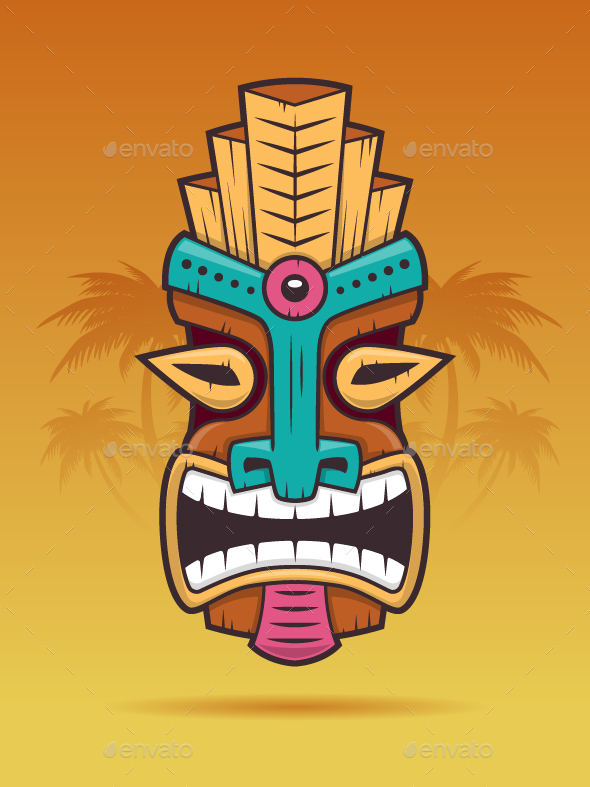 Tiki Mask by zoljo | GraphicRiver