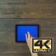 Zoom In Hand Digital Tablet With Blue Screen - VideoHive Item for Sale