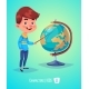 Boy with Globe Back to School - GraphicRiver Item for Sale
