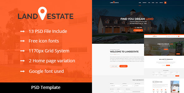 LANDESTATE – Properties/Real Estate Template - Business Corporate