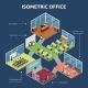 Isometric Office 3 Floor Building Plan  - GraphicRiver Item for Sale